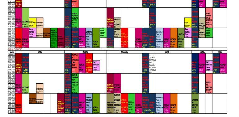 Oferta de materias- Ciclo Lectivo 2018